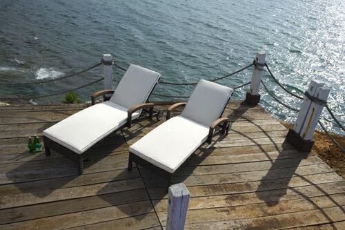 ALPINE 艾爾帕 躺椅 戶外家具【7OCEANS七海休閒傢俱】TIGER 咖啡混色 2