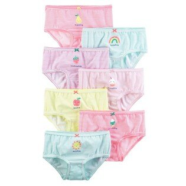 【美國Carter's】女童小內褲七件組-快樂每一天系列#43634812