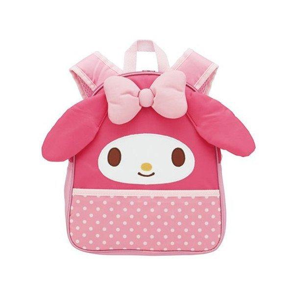 【真愛日本】15081200020 造型保冷後背包-MM大臉粉 美樂蒂 三麗鷗 包包 後背包 保冷袋