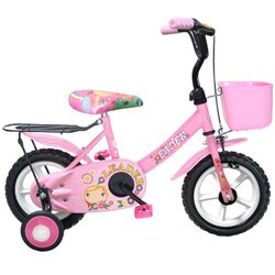 【Adagio】12吋酷寶貝童車附置物籃(粉紅)~台灣製造(ME0048P)