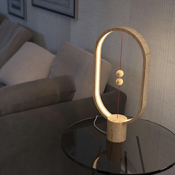 荷蘭 allocacoc Heng衡 LED燈 / 櫸木 / 淺色橢圓 8