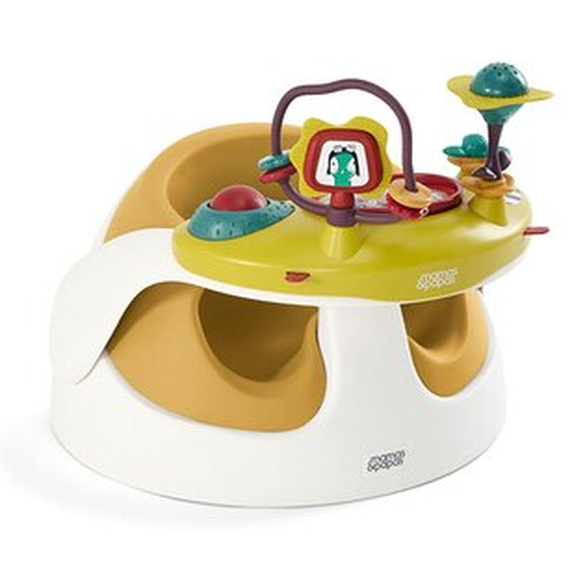 babygo:mamas&papasBabySnug二合一育成椅(附玩樂盤)【杏桃黃】