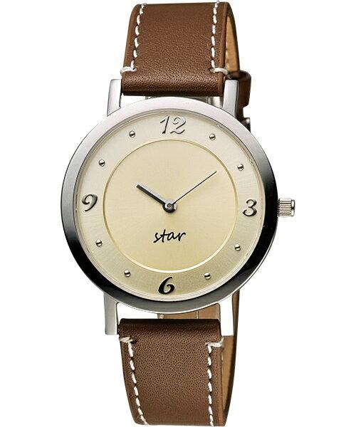 STAR時代錶 9T1407-331S-YG藝術復興時尚腕錶/淡金面34mm