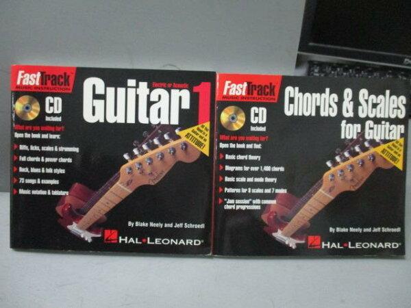 【書寶二手書T1/音樂_MBE】FastTrackGuitar1_Chords&…Guitar_共2本合售_附光碟