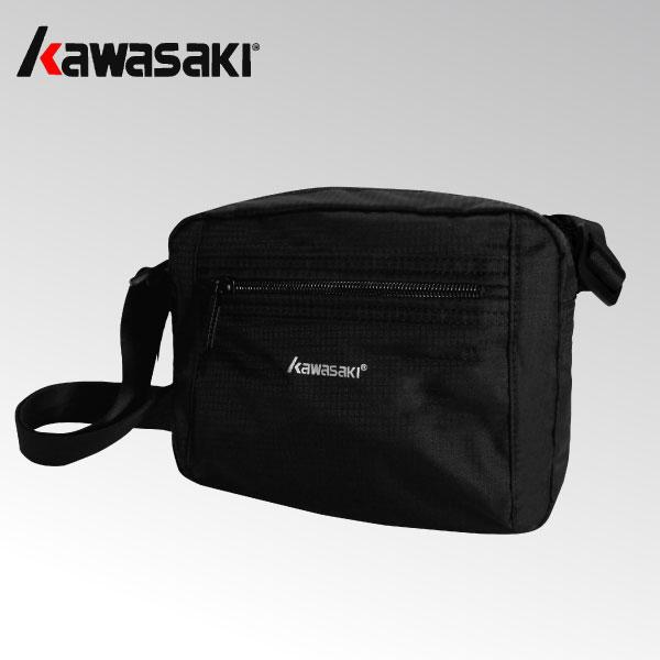 加賀皮件Kawasaki尼龍防潑水多口袋多隔層黑色紫色隨身包斜背包側背包KA213