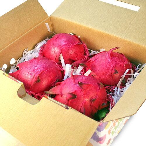 【鮮果日誌】紅肉 紅龍果/火龍果 (4入禮盒裝)