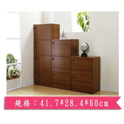 小田園高級雙門木製組合收納櫃(41.7*28.4*60cm)【愛買】