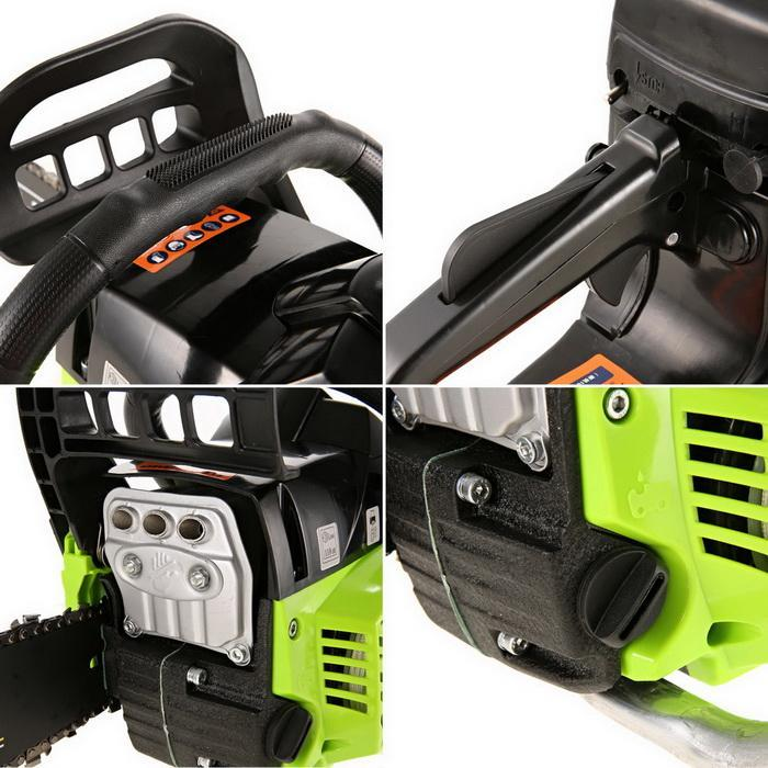 59CC Petrol Chainsaw Cutting Wood Gas Chain Saw 3.4HP Engine 2.0KW Chain and Cover Tool Kit 5