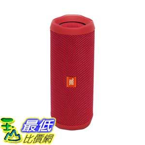 [106美國直購] 紅色 JBL Flip 4 防水多媒體藍牙喇叭 (紅)  ff19