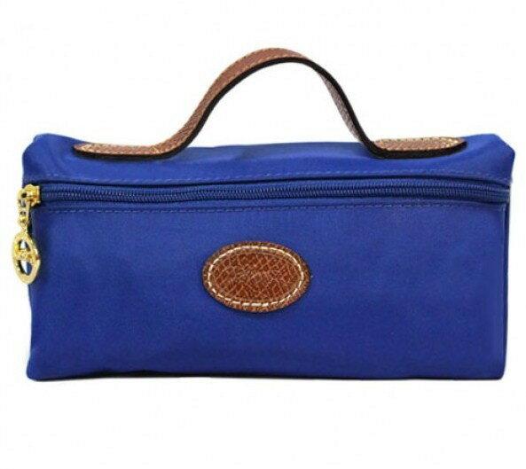 【LONGCHAMP】 LE PLIAGE 化妝包 - 寶藍