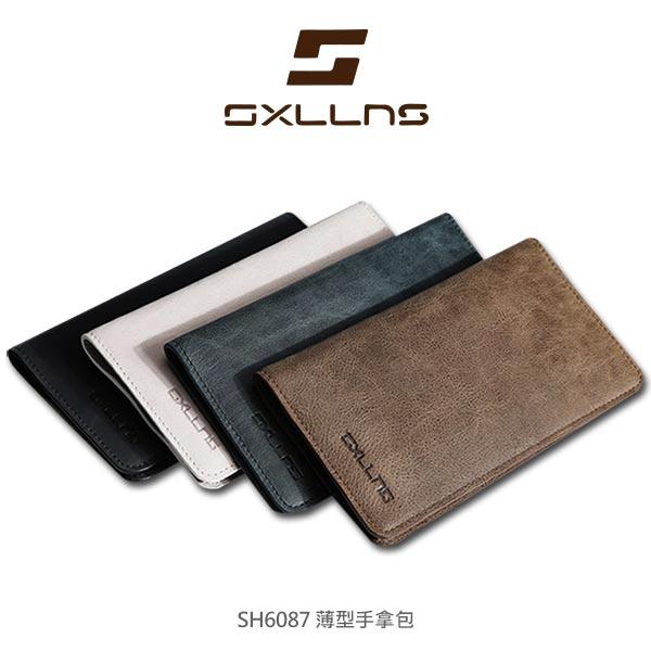 強尼拍賣~現貨出清SXLLNS賽倫斯SH6087薄型真皮手拿包手機包中夾
