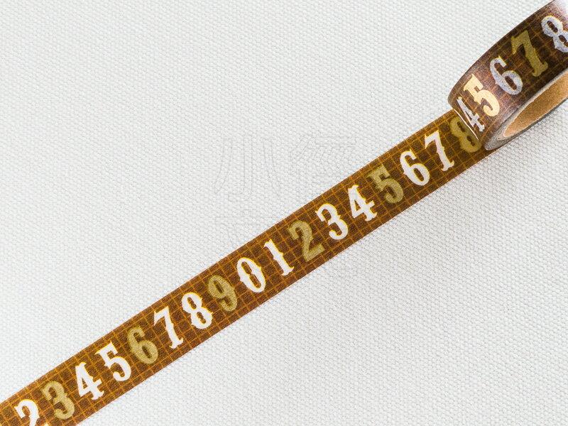 *小徑文化*日本進口和紙膠帶 Word carft系列 - 數字 ( W02-MK-T0039 )