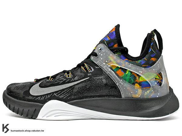 2015 襪套式內靴概念 中價位籃球鞋款 NIKE ZOOM HYPERREV 2015 PRM NET COLLECTORS SOCIETY NCS  黑白 彩虹塗鴉 HYPERFUSE 鞋面科技 + 動態飛線 DYNAMIC FLYWIRE 搭載 前 後 ZOOM AIR 氣墊 輕量化 籃球鞋 Kyrie Irving (776245-900) !