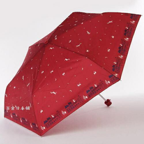 百倉日本舖:【百倉日本舖】日本進口星空與貓防風折疊傘陽傘雨傘(3色)
