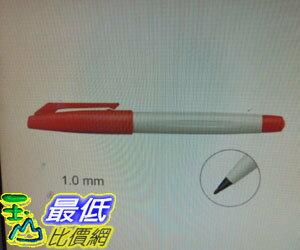 [COSCO代購 如果售完謹致歉意] 雄獅簽字筆-紅12支/盒(1.0 mm)(3組裝) W114471