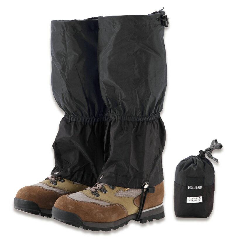 ├登山樂┤日本 ISUKA 輕量防水透氣綁腿 黑色 #B03IS03