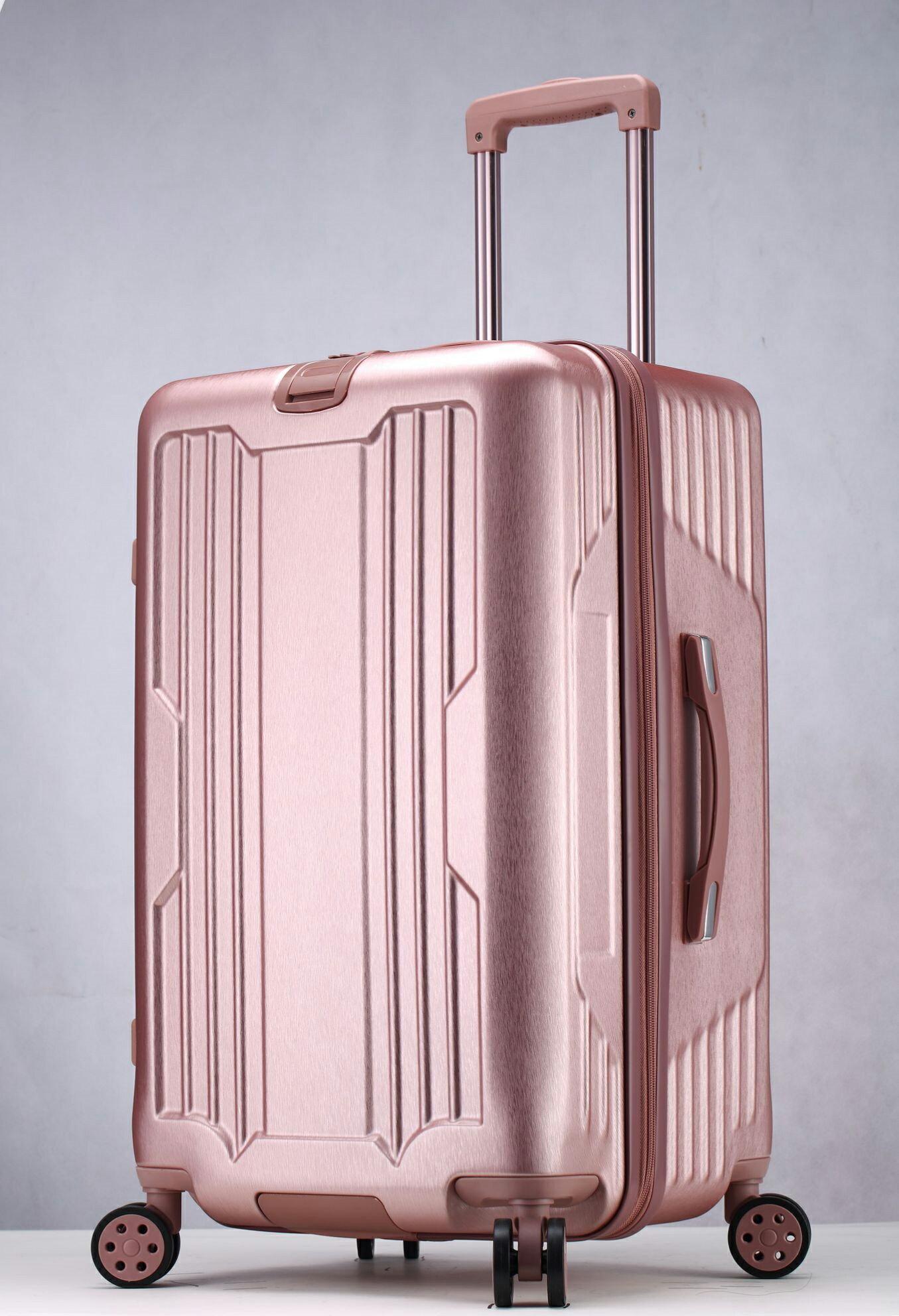 運動款 拉鍊 胖胖箱 旅行箱 20吋25吋29吋 行李箱 -鐵灰色 / 深紫色 / 玫瑰金-現貨當日出貨-免運台南可預約自取 2