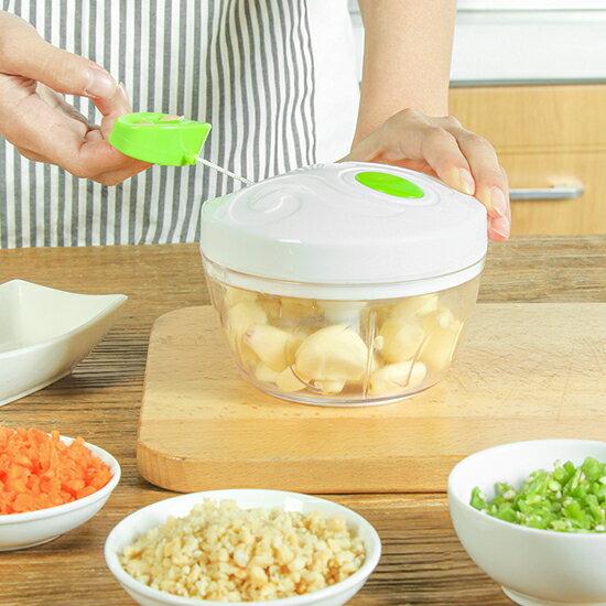 ♚MY COLOR♚手動絞菜機 301不銹鋼 手拉式 攪菜 搗壓蒜泥器 絞肉機 碎菜器 肉