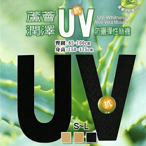 【esoxshop】蘆薈潤澤抗UV防曬彈性絲襪台灣製蒂巴蕾