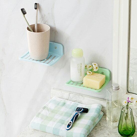 ♚MY COLOR♚ 吸盤式香皂置物架 日式 肥皂 衛浴 洗手 水槽 清潔 輕洗 排水 軟化 濾水【S67】