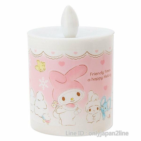 【真愛日本】16112500002蠟燭室內燈-MM與雪人 三麗鷗家族 Melody 美樂蒂 夜燈 小燈 照明