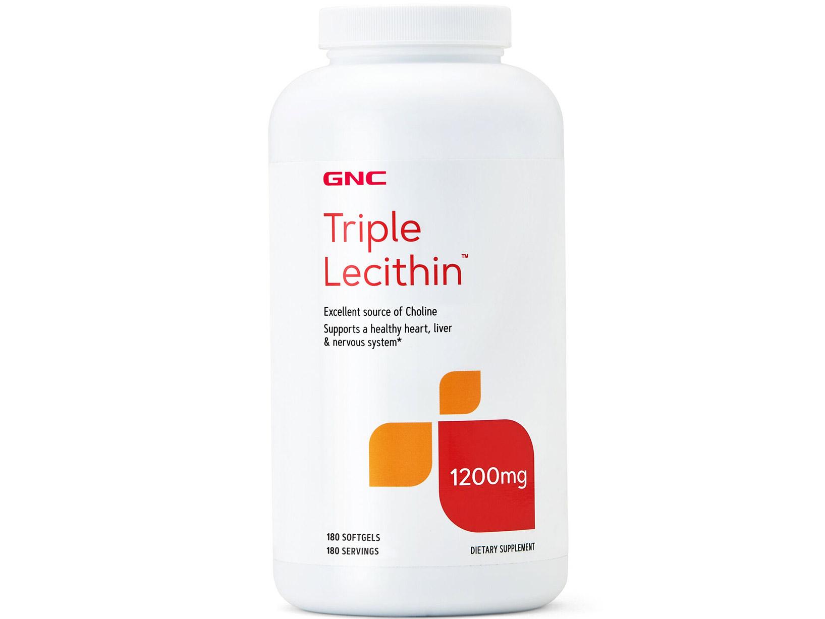 【GNC健安喜】三效卵磷脂膠囊食品1200mg 180顆