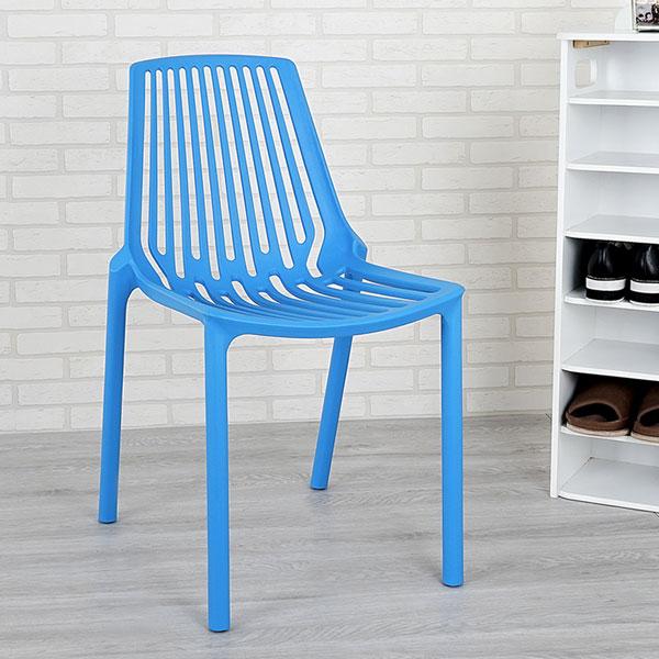 餐椅椅子休閒椅洽談椅【Yostyle】摩登時尚造型椅(海洋藍)