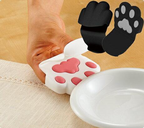 日本貓咪肉球手掌隔熱手套取鍋隔熱套療癒系單入黑色755165代購