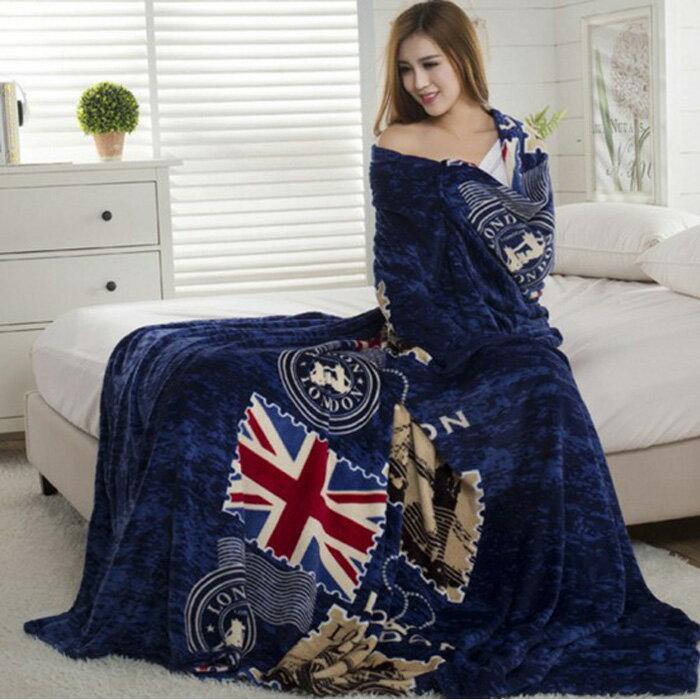 糖衣子輕鬆購【DZ0381】200*230雙人大毛毯保暖法蘭絨毛毯雙人毛毯珊瑚絨被單