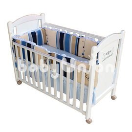 Mam Bab夢貝比 - 糖果純棉嬰兒床加高單護圈 -L (68x120cm大床適用) 0