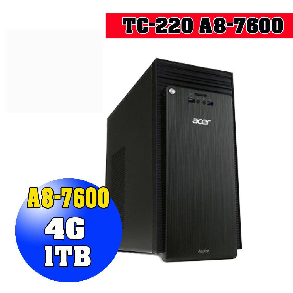 【ACER】 TC-220 A8-7600 4GB 1TB Windows 10 三年保固 桌上型電腦 【DR.K3C】