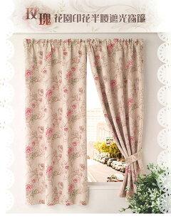 巴芙洛家居生活館:【巴芙洛】超值1入組-玫瑰花園節能遮光窗簾(200X165cm)居家-必備