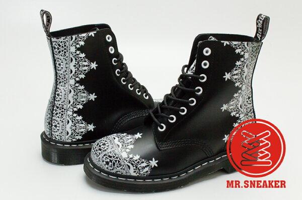 ☆Mr.Sneaker☆Dr.Martens1460八孔蕾絲LACE暗黑哥德16AW皮革黑女款