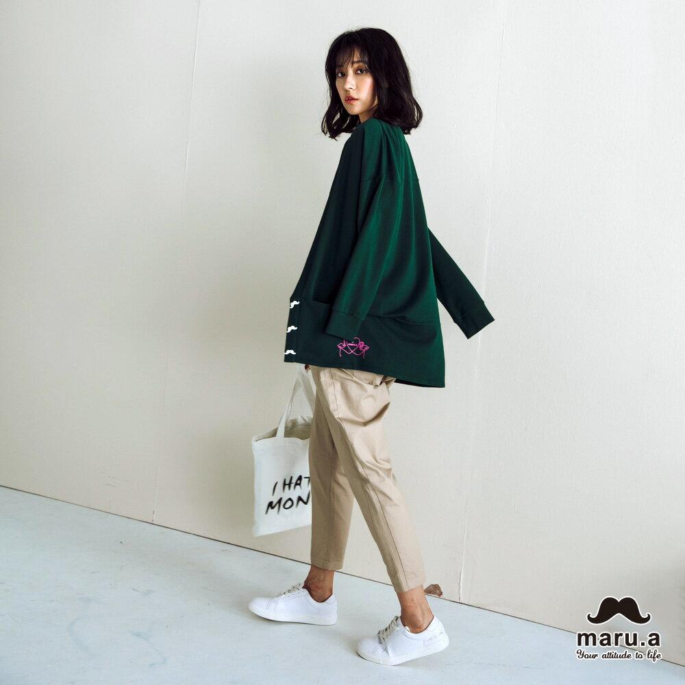 【maru.a】大V領寬鬆舒適開襟外套(2色)7921111 6