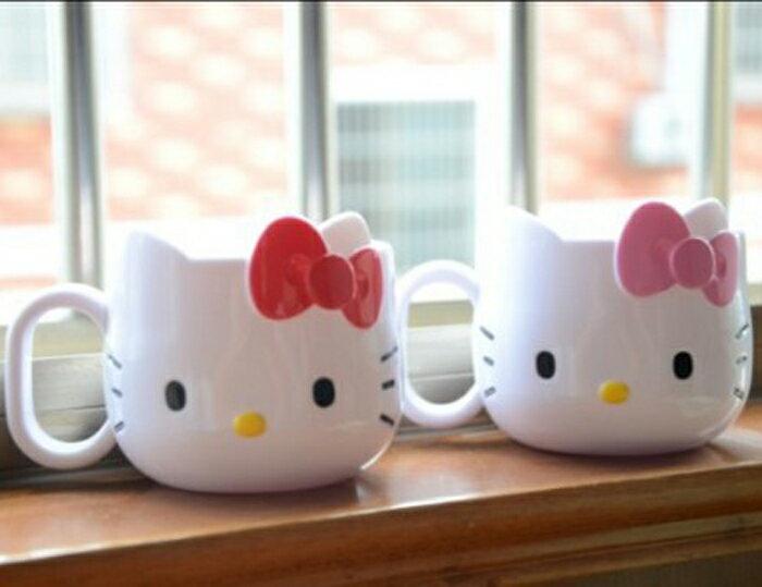 tangyizi輕鬆購【DS040】hello kitty漱口杯 茶杯 KT 牙具收?杯架兒童立体杯漱口杯刷牙杯
