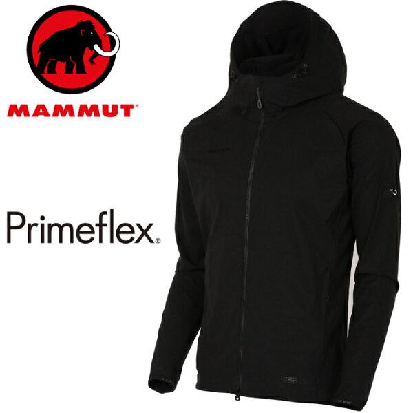 Mammut長毛象軟殼外套薄軟殼衣登山風衣夾克GRANITESOH男款亞版1011-003200001黑色