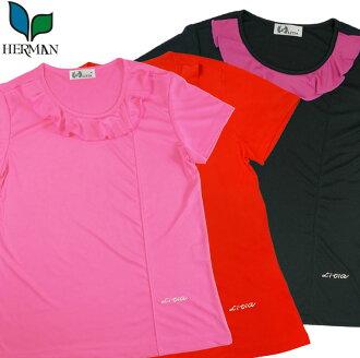 女 新款荷葉領素色T恤 by 和美服飾