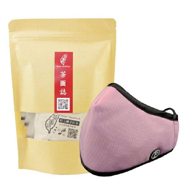 PYX 品業興 P輕薄型口罩-粉色+茶圖誌茶包組