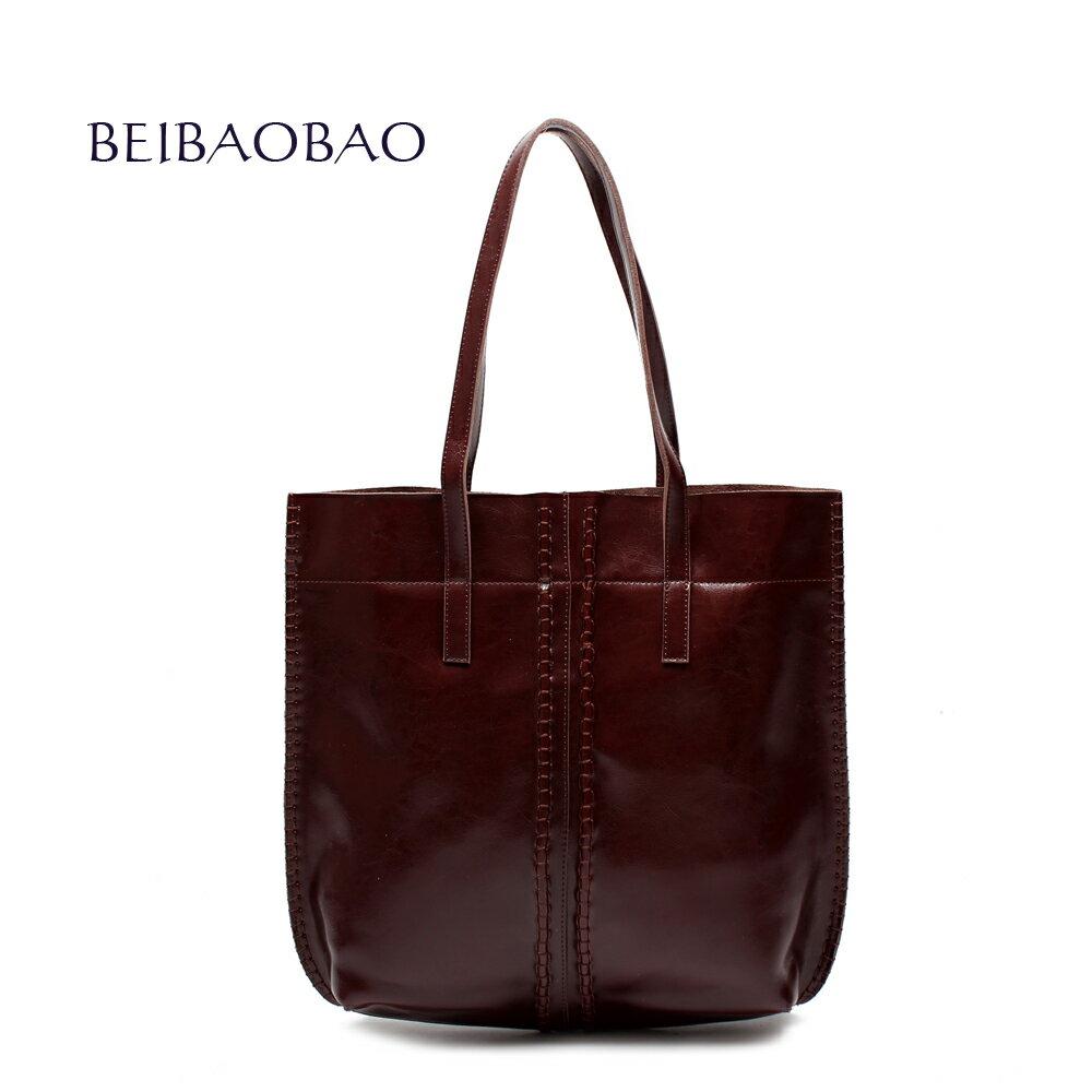 【BEIBAOBAO】浪漫巴黎真皮肩背包(共三色 古銅咖) 0