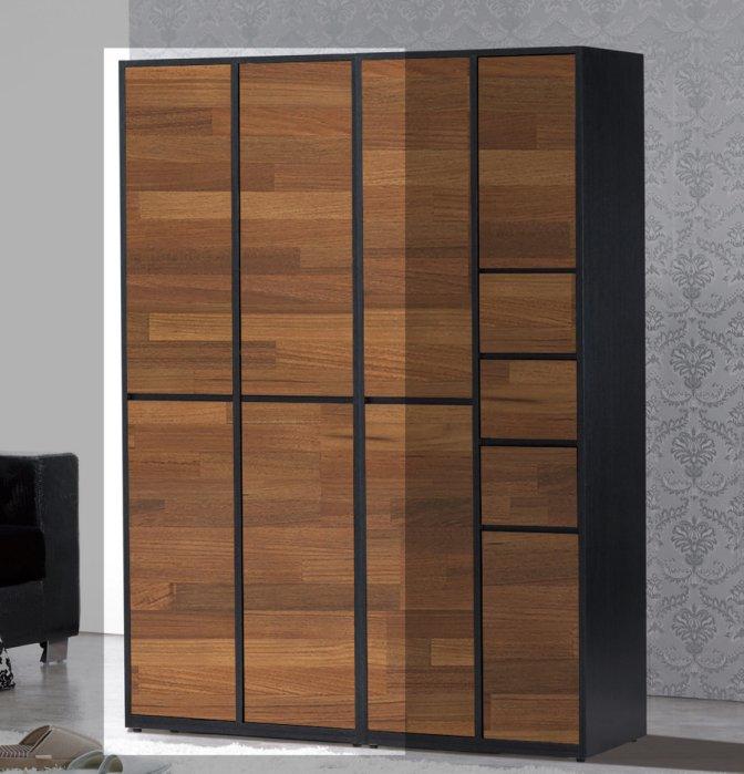 【尚品傢俱】JF-797-1-歐吉爾2X6尺雙色四門鞋櫃