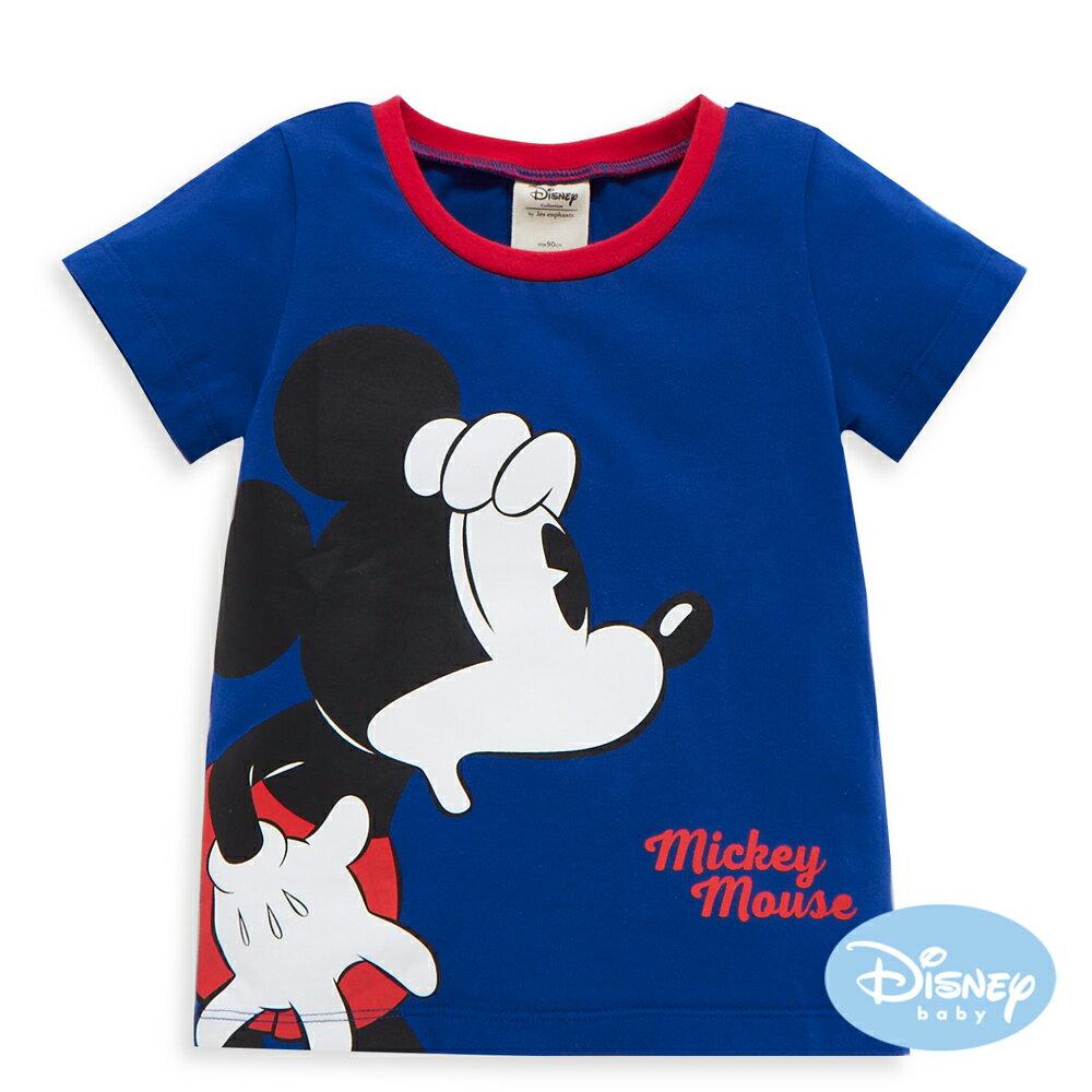 Disney baby 尋找米奇短袖上衣-牛仔藍