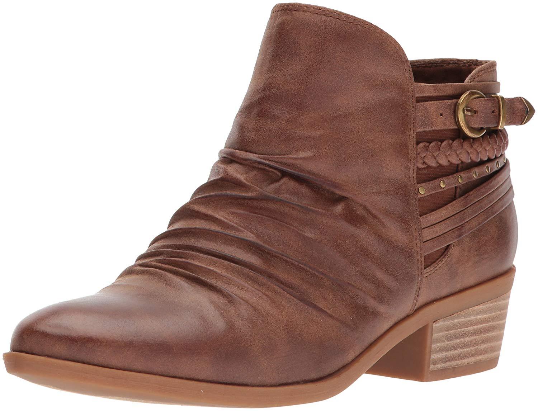 78d1025e9fe Bare Traps Womens Guenna Almond Toe Ankle Cowboy Boots