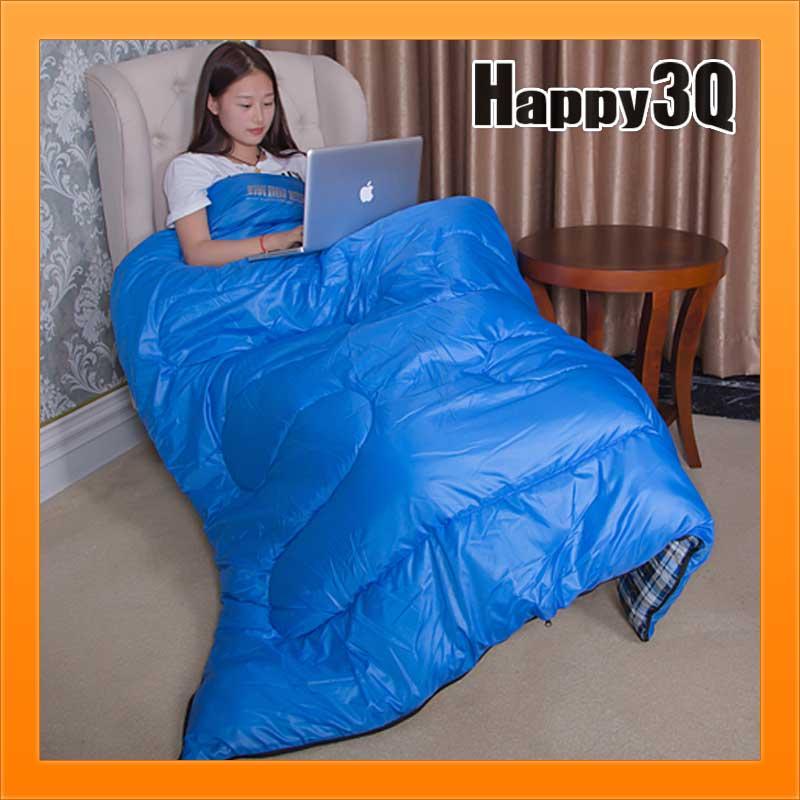 單人睡袋羽絨棉睡袋露營睡袋爬山防潑水睡袋保暖睡袋信封式-軍綠/寶藍【AAA2077】
