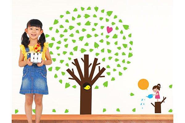 BO雜貨【YP1637】創意可移動壁貼 牆貼 背景貼 磁磚貼 兒童房佈置設計壁貼 蘋果樹
