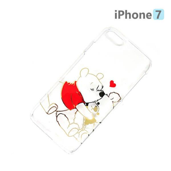 【日本 PGA-iJacket】正版 迪士尼 iPhone7 4.7吋 PC金箔透明系列 硬殼 手機殼 - 維尼