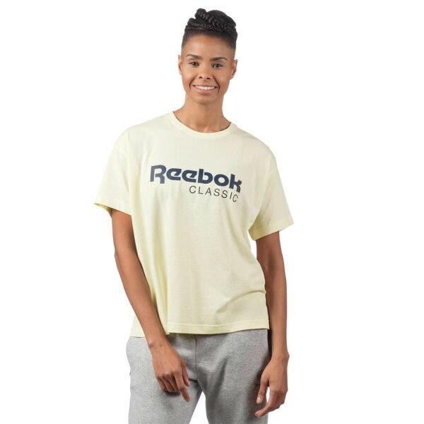 REEBOK女裝短袖休閒經典棉質單面針織基本款米白【運動世界】CY8334