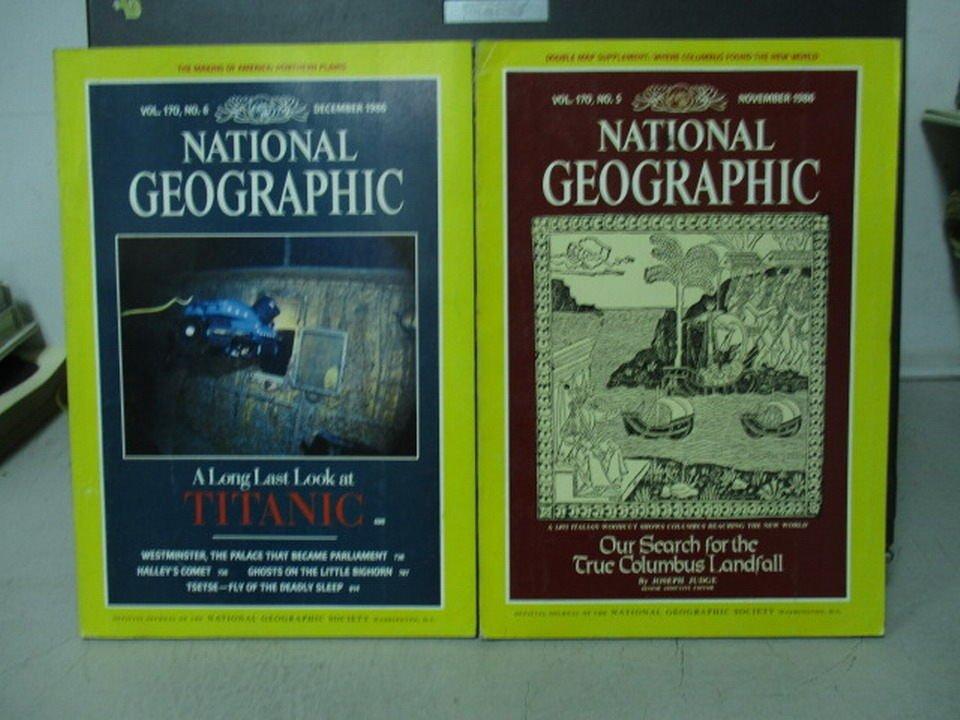 【書寶二手書T1/雜誌期刊_YEX】國家地理雜誌_1986/10&11月_共2本合售_Titanic等_英文版