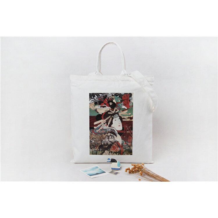 手提包 手提包 帆布袋 手提袋 環保購物袋--手提/單肩/拉鏈【SPA93】 BOBI  10/06 2
