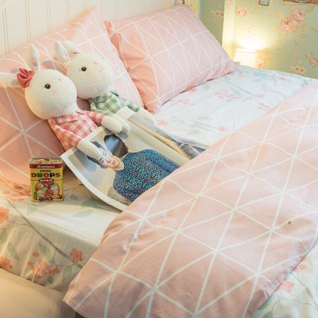 Rose Kitten  床包/被套/兩用被/枕套 單品賣場 100%復古純棉