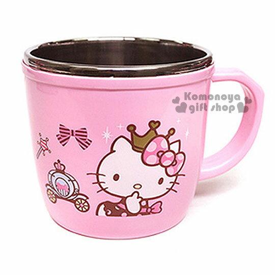 〔小禮堂韓國館〕Hello Kitty 單耳不鏽鋼杯《粉.大臉.皇冠.馬車.250ml》LOCK&LOCK樂扣系列
